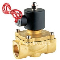 1/2'' 100% Gurantee 2W Series UD Water Solenoid Valve DC24V Brass 2 Way Valve Oil Gas Valves Model 2W-160-15