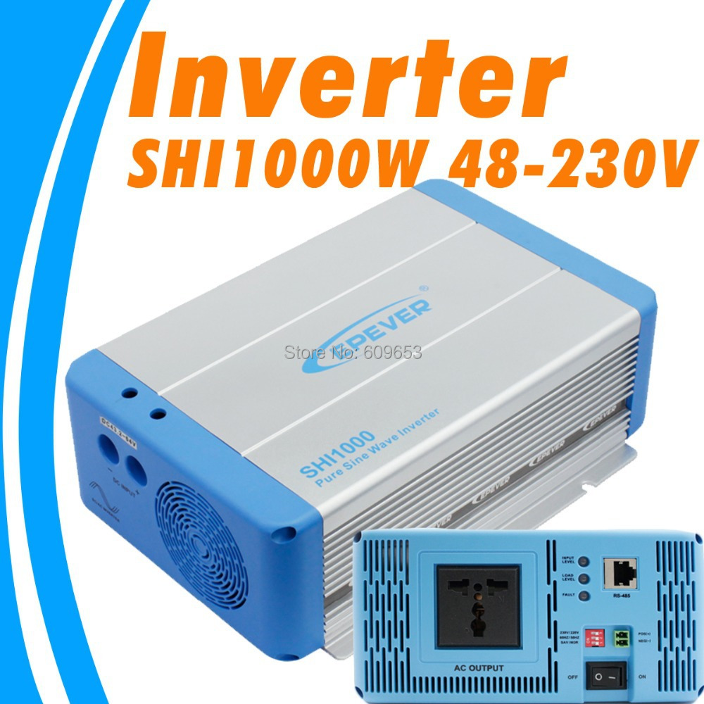 цена на 1000W EPEVER SHI1000W 48V Pure Sine Wave Solar Inverter 48Vdc to 220VAC 230Vac 50hz 60hz PV inverter Australia European DC to AC