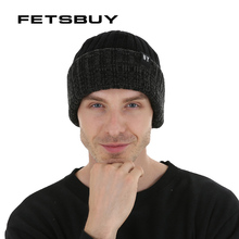 Fetsbuy invierno Beanie Cap niño gorros sombreros para hombres de punto de lana  sombrero skullies hombres a08a08c8599