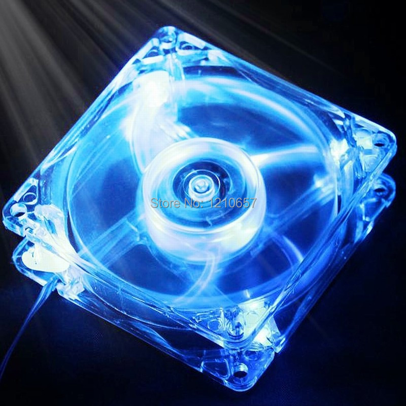 1PCS LED Chassis Cooling Fan Blue Light for Computer PC Case 140mm x 25mm 14cm gdstime 10 pcs dc 12v 14025 pc case cooling fan 140mm x 25mm 14cm 2 wire 2pin connector computer 140x140x25mm