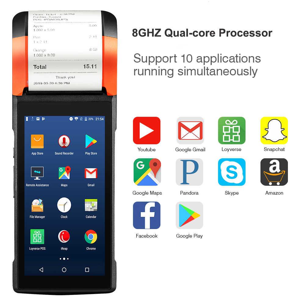 Sunmi V2 Android 7 1 PDA Speaker Thermal Receipt Printer 4G WiFi Camera  Scanner eSim Card Slot Mobile Payment Order POS Terminal