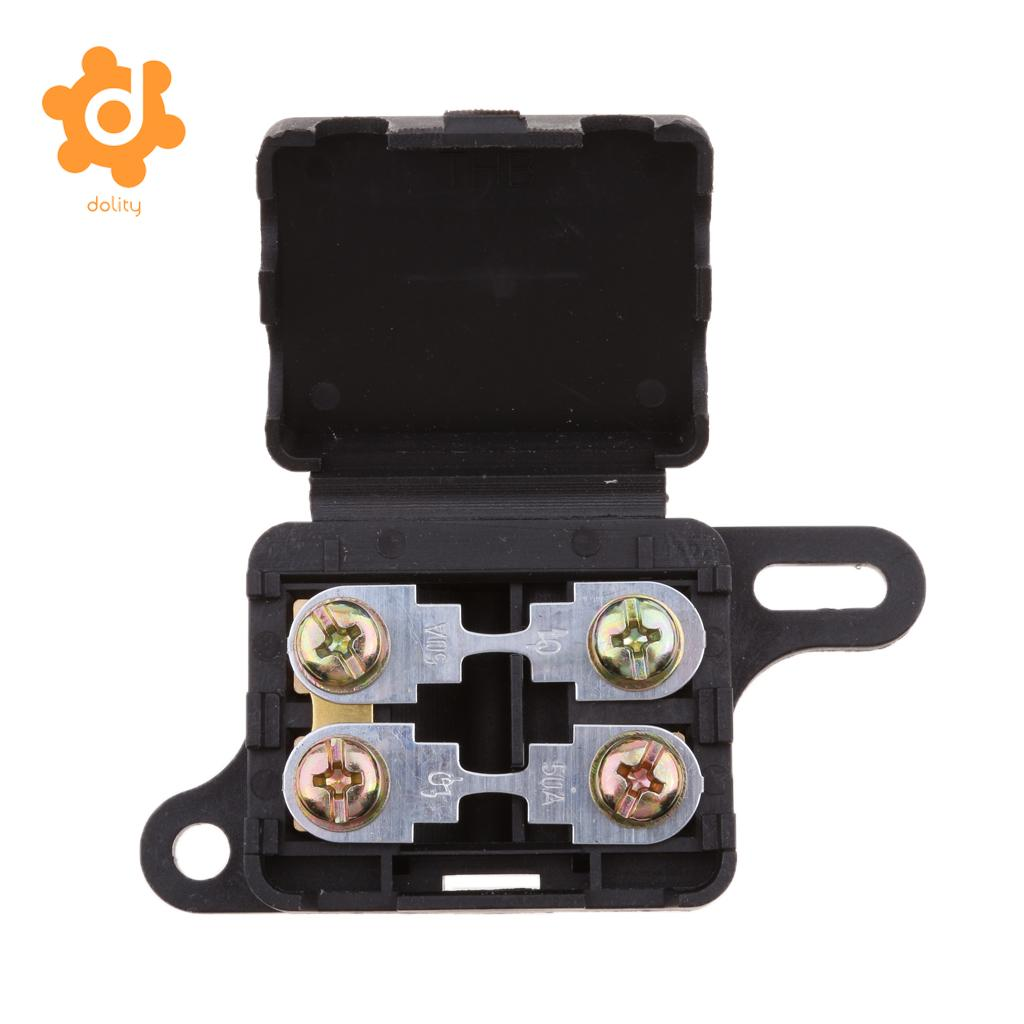 automotive 2 way ang 50a fuse holder bolt fusebox block waterproof rh aliexpress com Automotive Fuse Panels Bussmann Automotive Fuse Relay Block