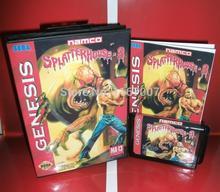 Splatter House Parte 3 Cubierta con Caja y Manual para Sega Genesis MD Cartucho de juego Megadrive Génesis del sistema
