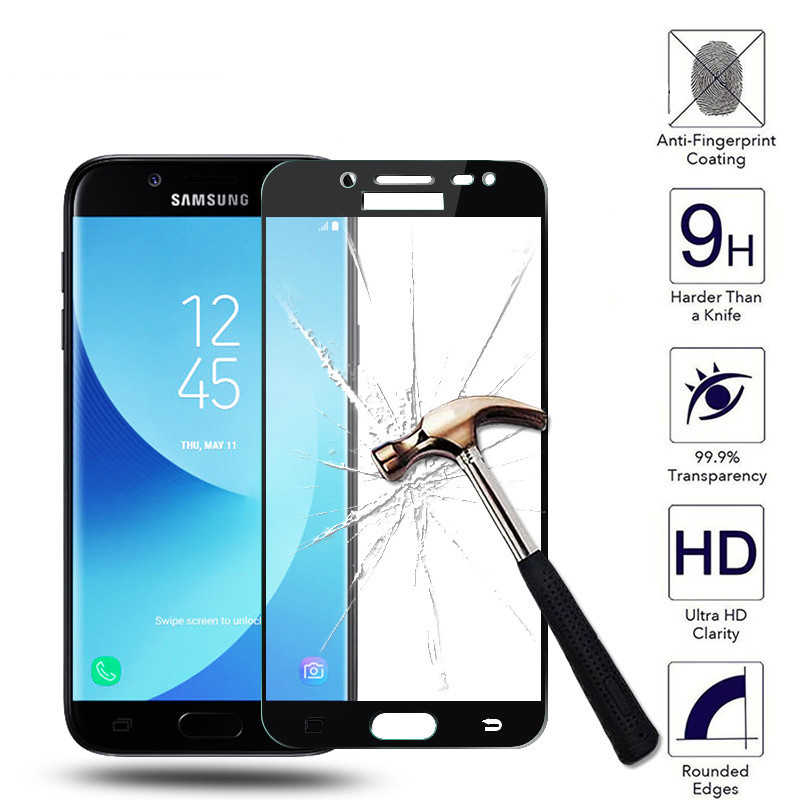 GerTong Full Cover Tempered Glass For Samsung Galaxy A3 A5 A7 2017 J7 J3 J5 Pro J330 J530 J730 Screen Protector Film Protective