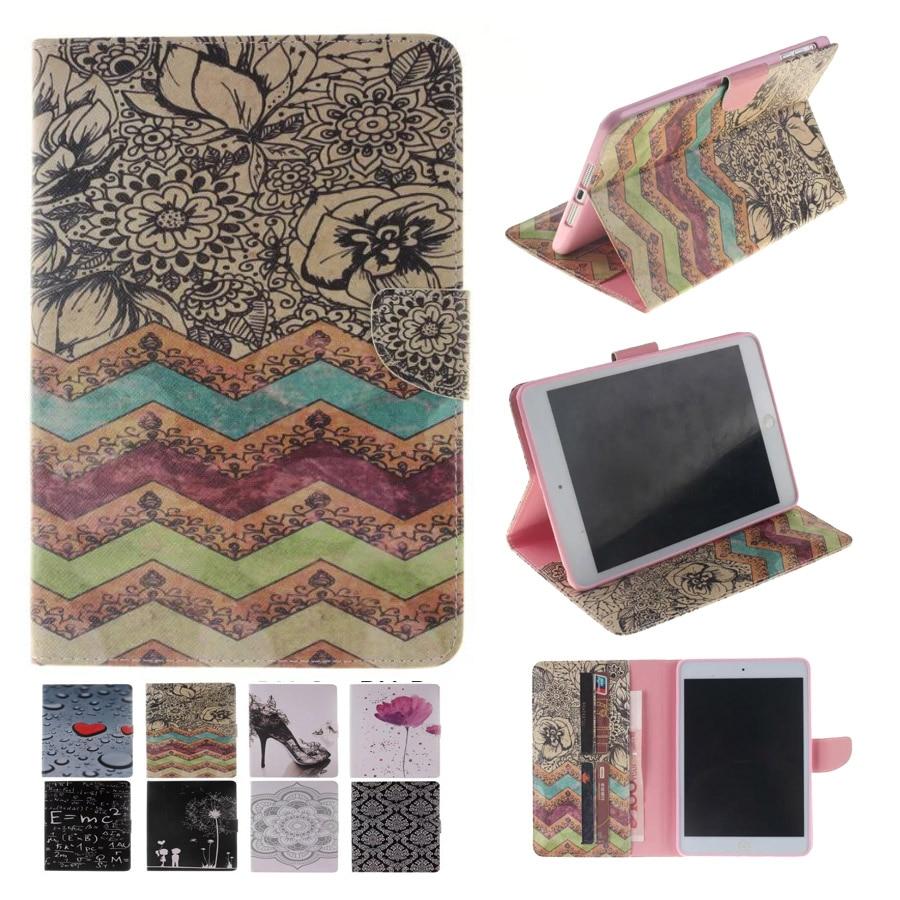 For Case Apple iPad Mini 3 2 1 Fashion Printing PU Leather Stand TPU Tablet Case Cover for iPad Mini 2 3 1 Funda Coque