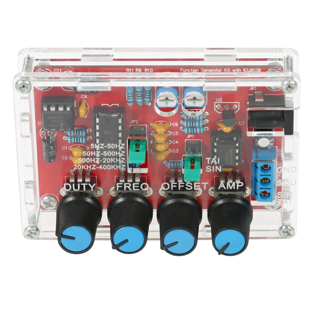 XR2206 HiSKY Generatore di Segnale Kit FAI DA TE funzione generatore sintetizzatore 5Hz ~ 400kHz Frequenza Regolabile Amplitude ICL8038 L0D3