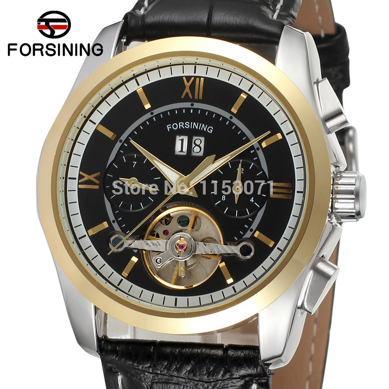 online buy whole watch company men from watch company fsg625m3t4 shipping new men automatic dress watch black genuine leather strap original gift