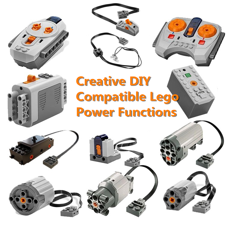 Technic Modified Car Power Functions Motor Set IR RX TX Servo Battery Box Building Blocks Bricks Kids City Compatible Legoings