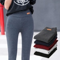 Casual Thicken Cotton Leggings Women Fall New Fashion Fitness Slim Fit Ankle Length Leggings Lable Elastic