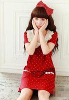 Autumn Winter Korean Women New Style Embroidery Lace O Neck Doll Collar Dot Sweet Cute Mori