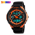 Skmei Men Fashion Sports Watches Dual Display Wristwatches Digital Quartz Led Clock Multiple Time Zone Outdoor Men's Watch 0931