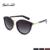 Suncristal mulheres clássico marca designer óculos de sol rodada cat eye óculos de sol da moda de metal feixe de metal senhora eyewear 1104