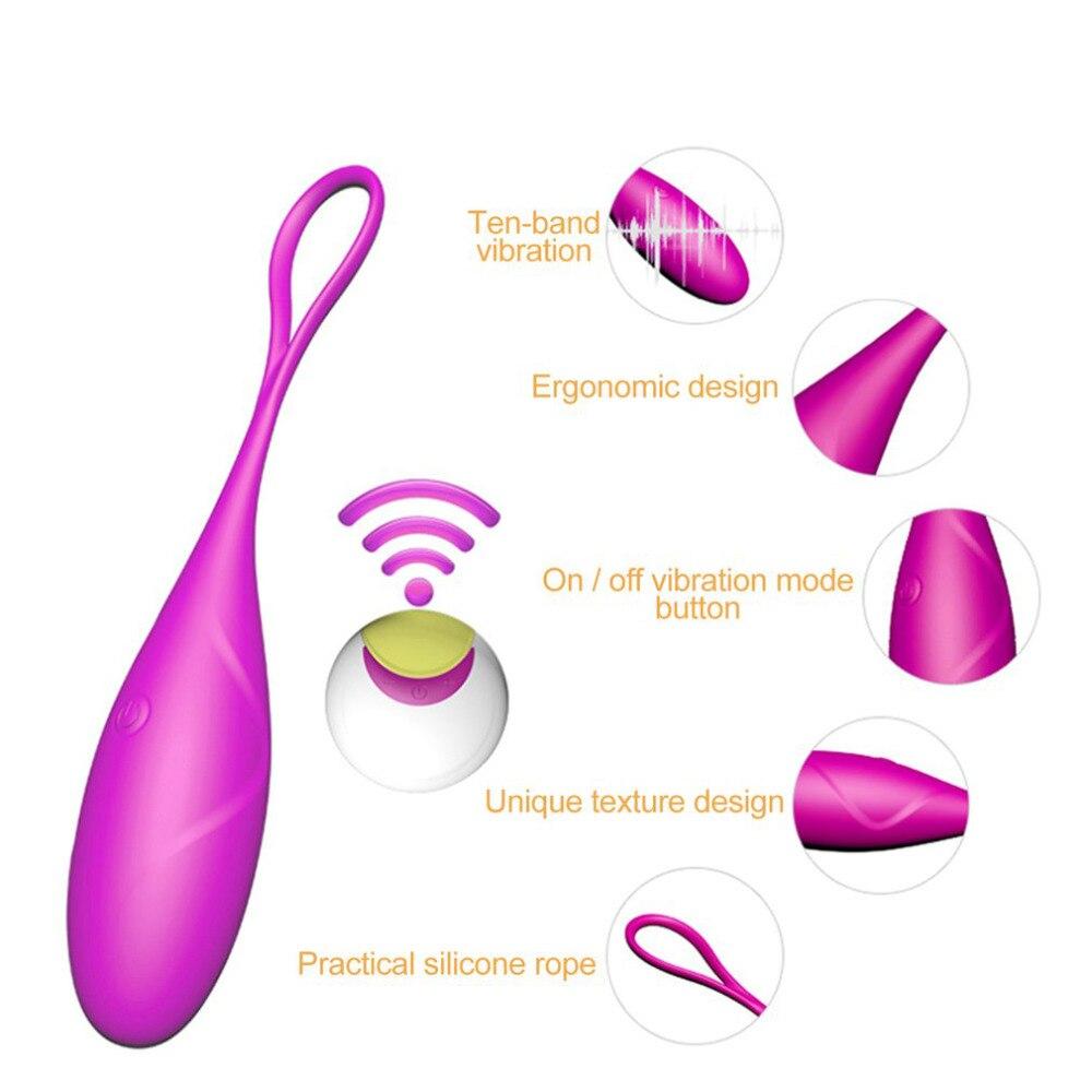 Wireless Remote Control G-Spot Egg Vibrator Ben Wa Ball Kegel Ball Clit Stimulator Vaginal Bullet Vibrator Sex Toy for Women