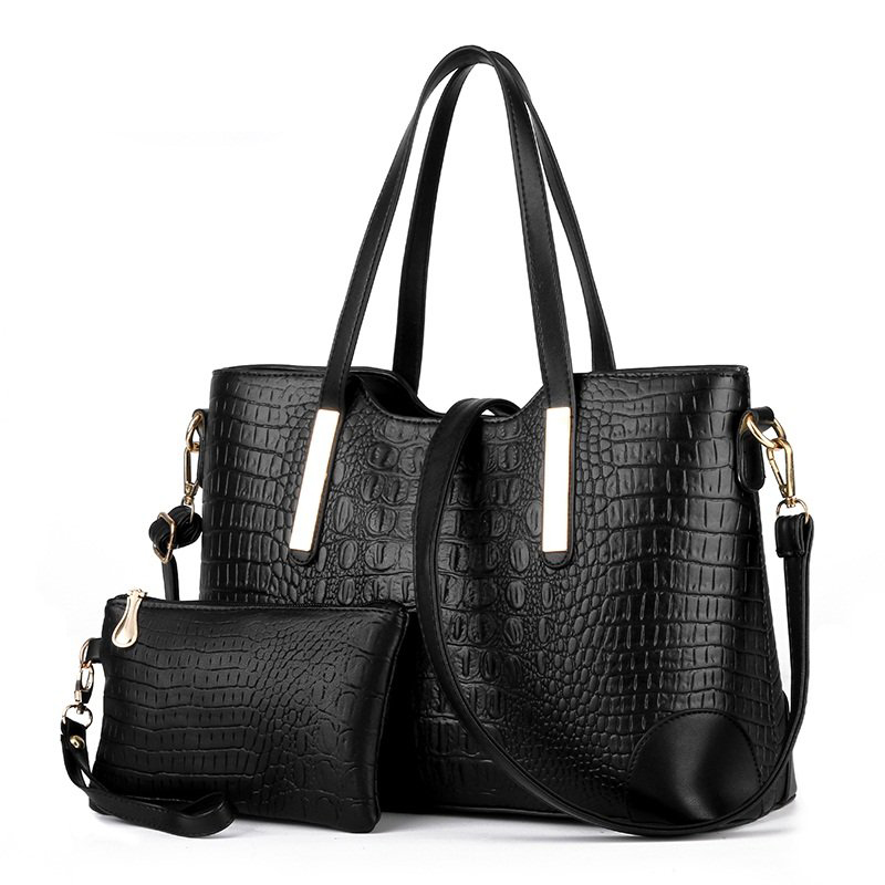 Women's Handbag PU Leather Alligator Patter Lady Bags Cross Body Shoulder Messenger Bag Casual Women Big Totes Bag Female Purse