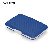 Business Cards Holder Credit Card Silicone Blue