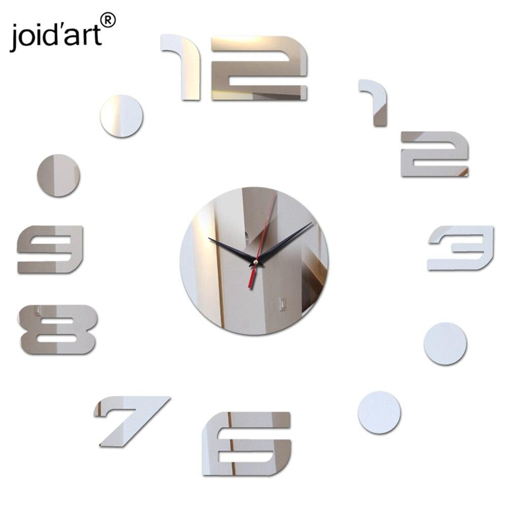 3d acrílico relógios de parede espelho adesivos relógio sala de arte digital de quartzo relógios apressado novidade home decor frete grátis