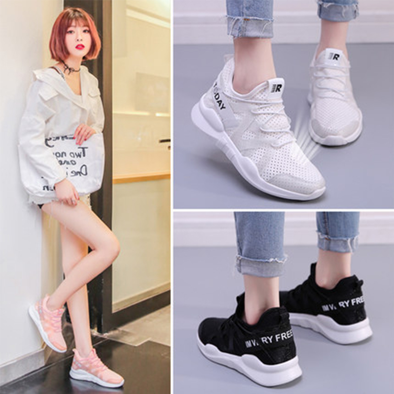 Fashion air mesh Women Casual Shoes Summer 2018 Spring Women Flats Shoes Fashion Breathable Hollow Lace-Up Women Sneakers pinsen fashion women shoes summer breathable lace up casual shoes big size 35 42 light comfort light weight air mesh women flats