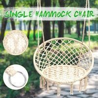 Nordic Style Round Hammock Outdoor Indoor Dormitory Bedroom Children Swing Bed Kids Adult Swinging Hanging Single Chair Hammock