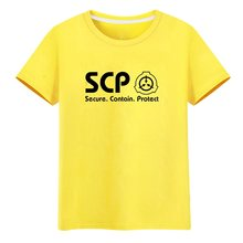 High-Q Unisex Anime SCP T-Shirt Speciale Containment Procedures Foundation Cyuunibyou Katoenen T-Shirt Tee T-shirt Top(China)