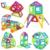 158 unids mini tamaño modelos bricks enlighten bloques magnéticos de múltiples combinaciones de diseño magnético 3d diy bloques de construcción de juguetes