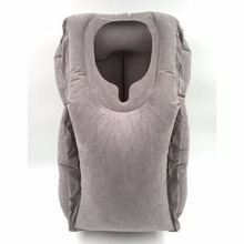 Air inflatable travel pillow Portable PVC Flocking Soft Head Neck Rest Support Cushion For Neck Body Sleeping Chin Head Support