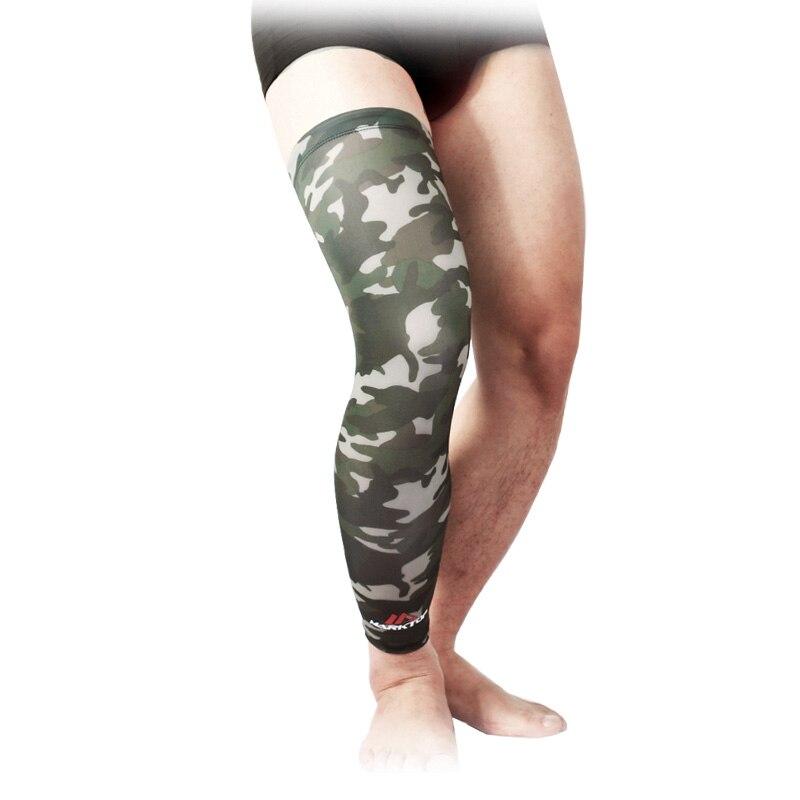 Hot Professional Breathable Men Women Long Knee Support Brace Protector Pad Basketball Leg Sleeve Sports Kneepad 1 Pcs M5017