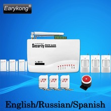 Free Shipping Hot Selling New Wireless Home GSM Alarm System 433MHZ Support English Russian Spanish Language 3 years Warranty