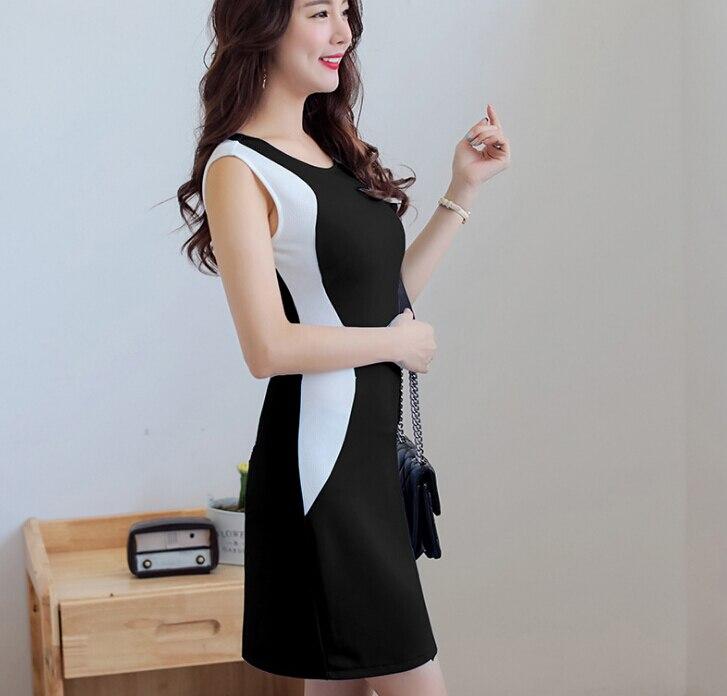 Summer Dress Women Clothing Bodycon Dress Korean Cute Patchwork