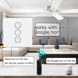 Image 3 - AB/ABD Tuya Akıllı Yaşam WiFi Akıllı tavan vantilatörü Anahtarı APP Uzaktan Zamanlayıcı ve Hız Kontrolü ile Uyumlu Alexa ve google Ev