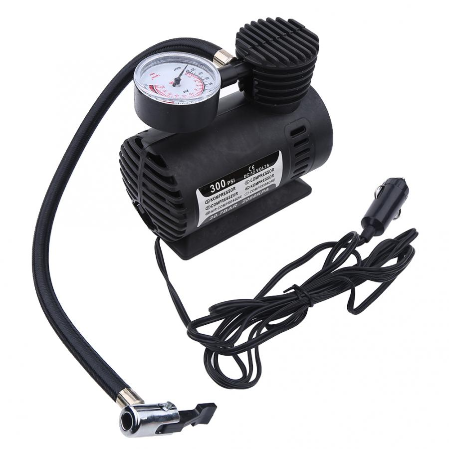 Portable Mini Air Compressor Electric Tire Infaltor Pump 12 Volt Car 300 PSI Air Compressor