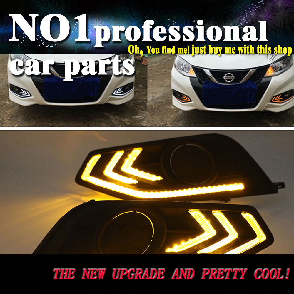 car styling 2016 2017 For Nissan tiida LED DRL led fog lamps daytime running light High brightness guide LED DRL for lexus rx gyl1 ggl15 agl10 450h awd 350 awd 2008 2013 car styling led fog lights high brightness fog lamps 1set