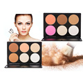 Faashion 6 Color Foundation Concealer Eyeshadow Makeup Palette Best Quality Maquiagem Facial Powder Cosmetic Brush Basic Palette