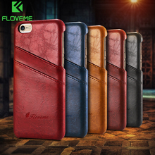 Business Style Luxury Leather Case For Apple Iphone 6 4.7inch Fashion Wallet Card Holder Wax Phone Pouch Cover Iphone6
