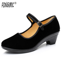 Women Casual Shoes Good Quality Black Three Types Buckle Strap Flats Spring Autumn Wear Solid Comfrotable
