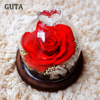 Roses Flower Head Red Rose Flowers For Christmas Gift Birthday Gifts Valentine's Day Festival Dried Flowers for Home Decorations
