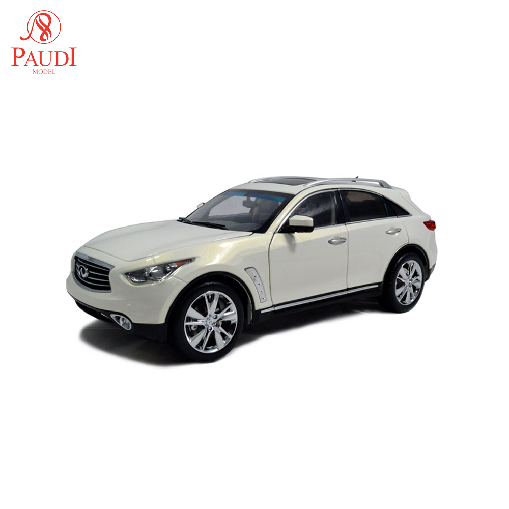 Paudi <font><b>Model</b></font> <font><b>1:18</b></font> Scale Infiniti QX70 White <font><b>Diecast</b></font> <font><b>Model</b></font> <font><b>Car</b></font> Toy <font><b>Car</b></font> Toy <font><b>Model</b></font> <font><b>Car</b></font> Doors Open image