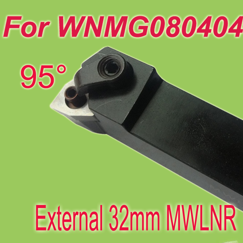 Free Shiping  MWLNR 32*32*170mm SHK 1-1/4'' 95  Degree External Clamping Locked  Lathe Tool Holder For Lathe Inserts  WNMG080404 недорого