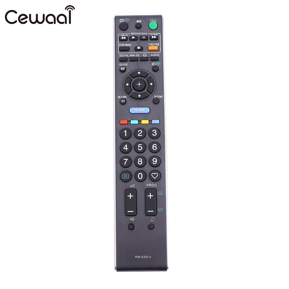 Cewaal ABS Replacement RM-ED011 Remote Control For Sony TV Television Black Accessories RC Controllers