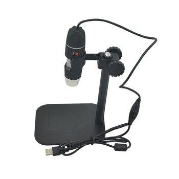 Практическая Электроника 5MP USB 8 СВЕТОДИОДНЫЙ Цифровой Микроскоп Камеры Эндоскопа Лупа 50X ~ 500X Увеличение Мера