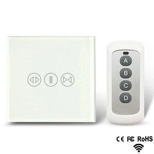 Image 1 - Akıllı ev perde anahtarı elektrikli perde dokunmatik uzaktan kumanda sensörü anahtarı