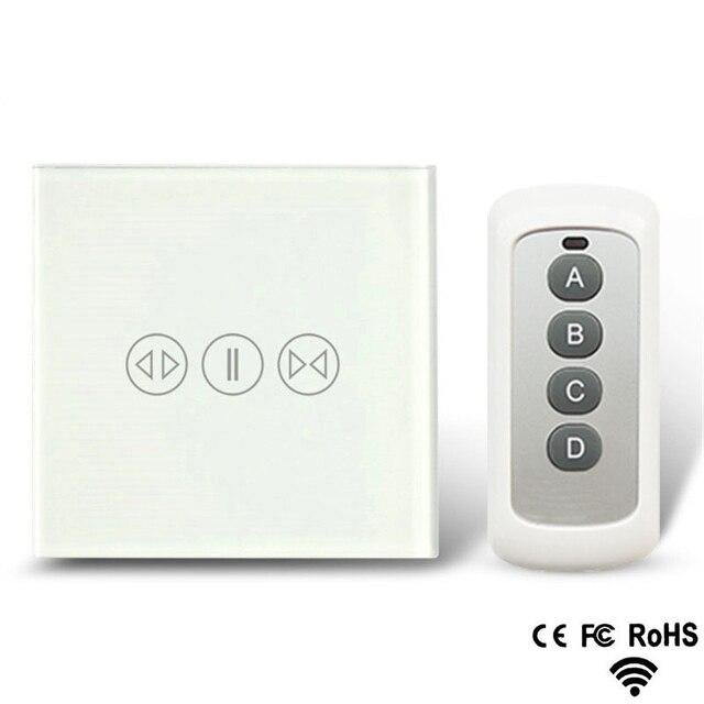 Akıllı ev perde anahtarı elektrikli perde dokunmatik uzaktan kumanda sensörü anahtarı