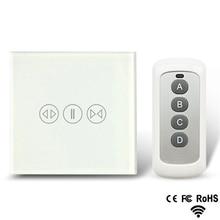 Interruptor del sensor táctil del control remoto de la cortina eléctrica del interruptor de la cortina del hogar inteligente