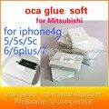 50 Шт. ОСА Клей клей Двойной Для iPhone 6 s 6 Plus 4S 5S 4.7 5.5 дюймов 250um толстым для Mitsubishi