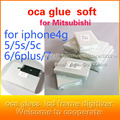 50 unidades oca pegamento adhesivo doble para iphone 6 s 6 plus 4S 5S 4.7 5.5 pulgadas 250um grueso para mitsubishi