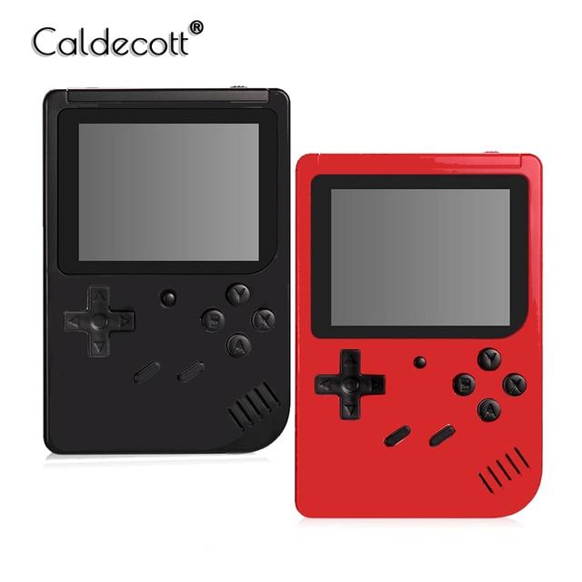 Caldecott ريترو المحمولة وحدة تحكم بجهاز لعب محمول صغير 3.0 بوصة شاشة إل سي دي ملونة أطفال لعبة لاعب المدمج في 400 ألعاب للهدايا