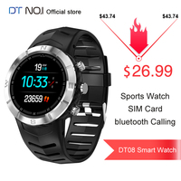 DTNO.I NO.1 DT08 Round Touch Screen Sport Smart Watch HRV Detection IP67 Waterproof Heart Rate Monitor Smartwatch Men Outdoor