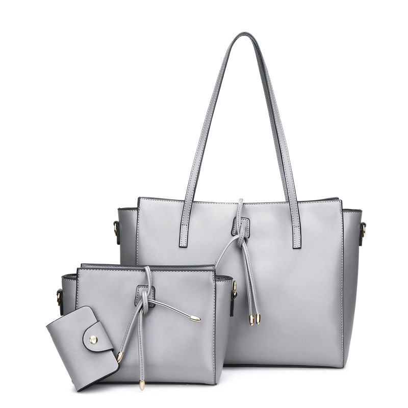 BAGSMALL 3pcs/set Women Handbag Bow Leather Bag Female Shoulder Bag Tote Composite Bags Famous Designer Women Bag bolsos mujer rusoonnic women handbag set designer ladies composite bag pu leather shoulder bags alligator tote bolsos mujer mochila