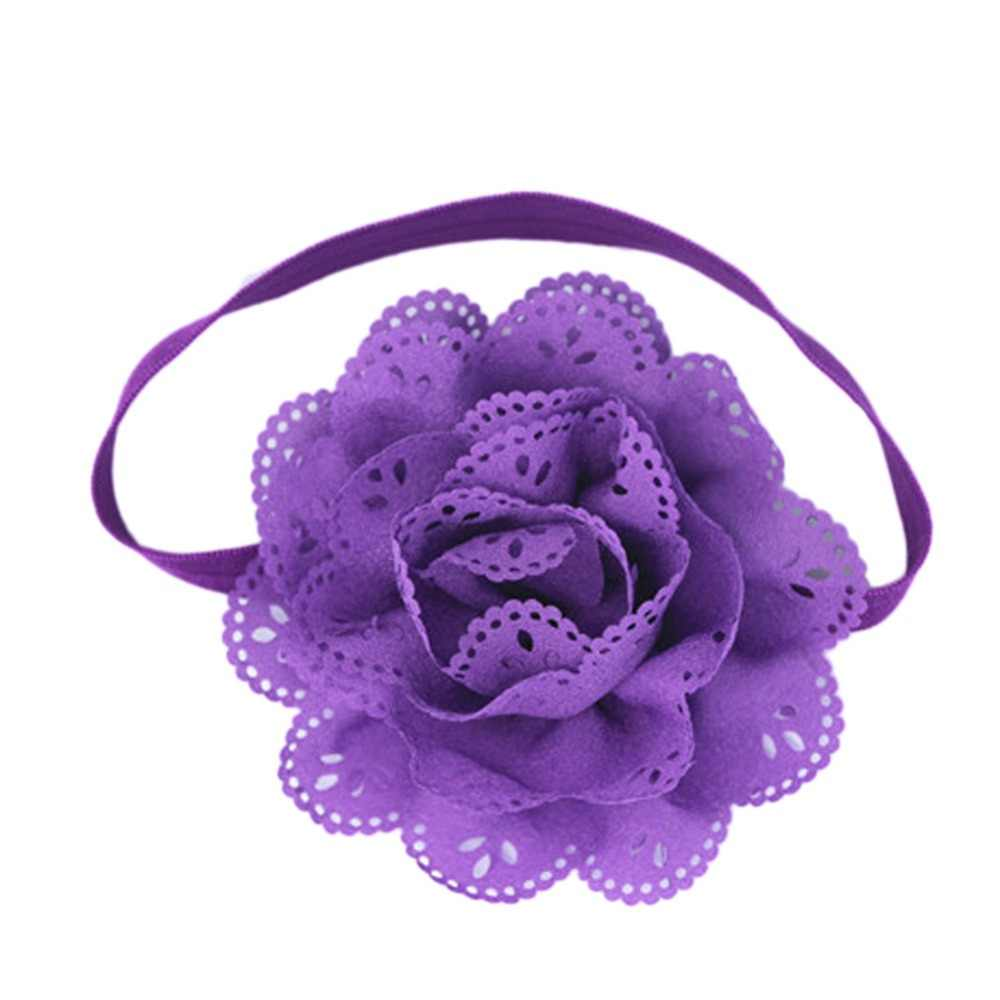 Cute Newborn Baby Girls Flower Headbands Photography Props Infant Baby Hair Bands Children Hair Accessories