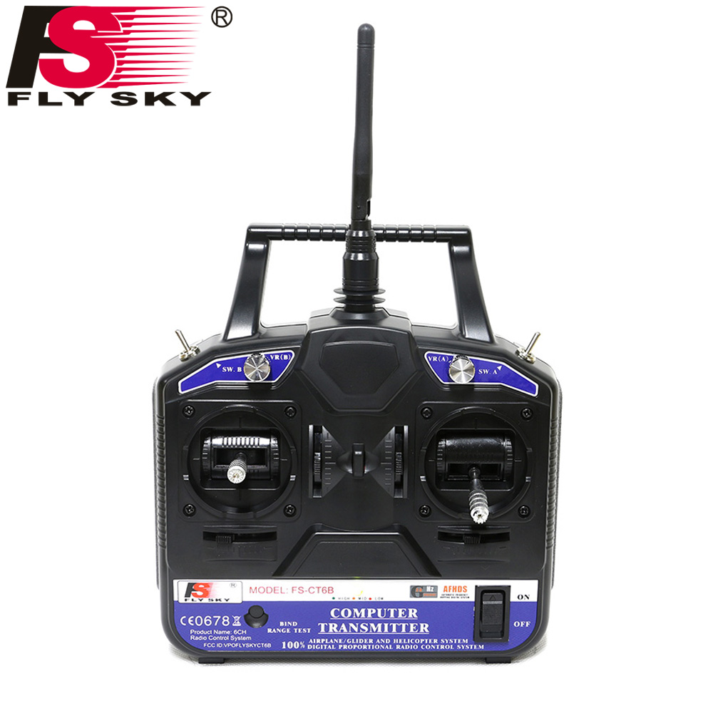 Fly Sky FS-CT6B 6CH 2.4G RC Transmitter & FS-R6B receiver Remote controller 6 channel for Heli/Airplane/Glid/Copter RC Drone new hot sale fly sky 2 4g fs ct6b 6 ch channel radio model rc transmitter receiver control dorp shipping
