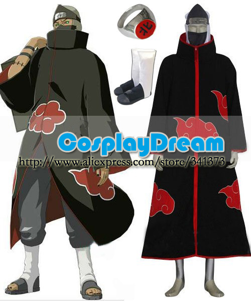 Naruto Akatsuki Kakuzu Cosplay Costume Deluxe Set from Naruto Custom-Size  Halloween